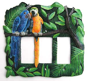Macaw metal switchplate