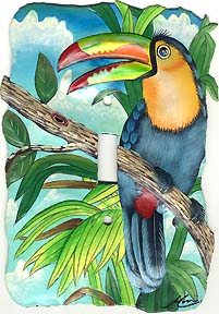 Toucan parrot switchplate cover.