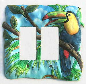 Toucan switchplate cover