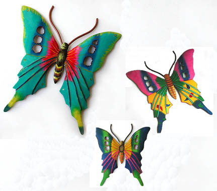 Painted Metal Decorative Butterly Art Combo -Outdoor decor