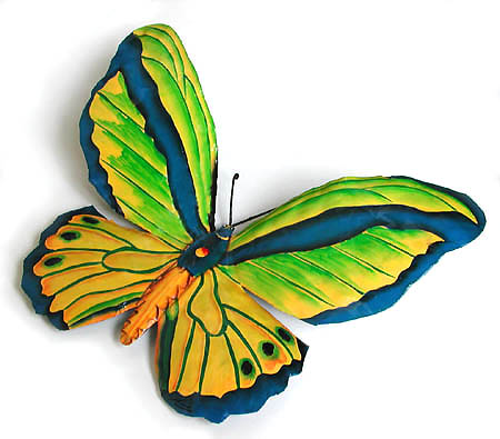 Bright Green & Blue Butterfly Wall Decor - 8