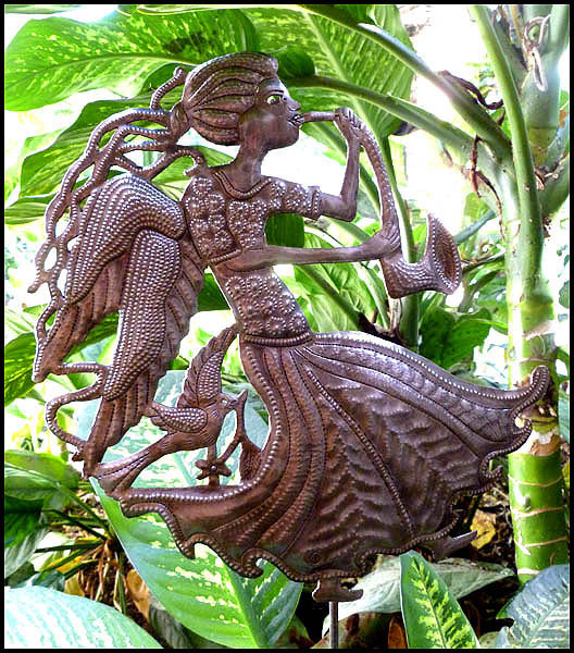 Metal Angel Garden Plant Stick, Metal Plant Sticks   Recycled Steel Drum    10 1. View Images