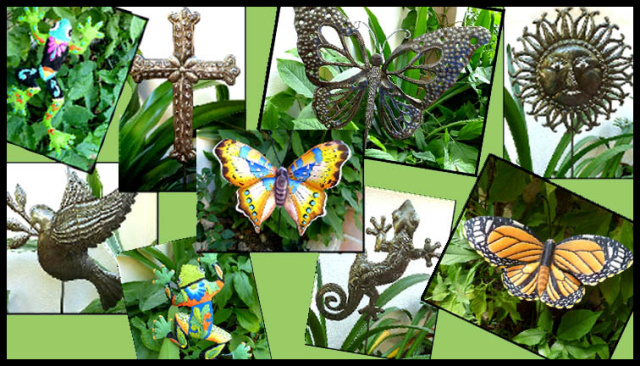 Handcrafted Garden Decor - Metal plant sticks