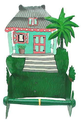 Painted Metal Gingerbread House Wall Hangings, Tropical Decor, Metal on caribbean colors and decorating, caribbean style bathrooms, caribbean party themes, caribbean wedding themes, caribbean bar themes, caribbean luxury bathrooms,