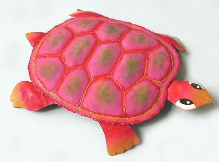 Hand painted metal turtles - Tropical home decor, Metal art, Metal ...