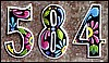 Painted Metal House Address Numbers - Recycled Steel Drum - 7 1/2""