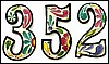 "House Number - Hand Painted Metal House Address Numbers -  4 1/2"" High"