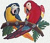 "Parrot Painted Metal Art Wall Hanging - Scarlet Macaw -  Haitian Steel Drum Art - 12"" x 18"""