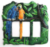 Switch Plate - Parrot Triple Rocker Metal Switchplate - Hand Painted