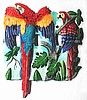 Switch Plate - Painted Metal Scarlet Macaw Parrot Switchplate Cover