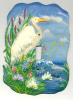 White Egret Painted Metal Light Switchplate Cover - Switch Plate