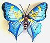 Butterfly Design - Painted Metal Butterfly Wall Hanging - Garden Decor - 21""