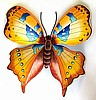 "Butterfly Wall Decor - Painted Metal Garden Design - Metal Art - 29"" x 34"""