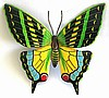 Painted Metal Art Butterfly Wall Hanging - Outdoor Decor 18""