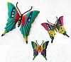 Painted Metal Butterfly Art Combo - 3 Sizes - Tropical Home Decor