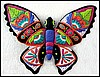 "Butterfly Wall Hanging, Hand Painted Metal, Garden Art , Metal Wall Art, Haitian Metal Art, 19"" x 24"""