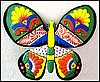 Butterfly Wall Decor, Metal Wall Hanging, Painted Metal Garden Wall Art - 34""