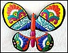 Butterfly Wall Hanging, Outdoor Metal Wall Art, Painted Metal Garden Art Design - 24""