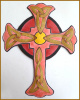 Hand painted cross wall art - Christian Gift, Metal cross wall hanging - Christian art - 12 1/2""