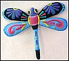 "Dragonfly Garden Art Wall Decor - Tropical Wall Hanging - Hand Painted Metal - 20"" x 24"""