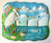 White Egret Painted Metal Switchplate - Triple Light Switch Cover