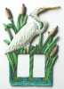 Rocker Switchplate Cover - Hand Painted White Egret - Double