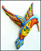 Painted Metal Hummingbird Wall Hanging, Metal Decor, Funky Wall Decor