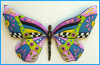 Butterfly Wall Hanging - Painted Metal Art - Steel Drum Art - 25""