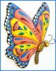 Butterfly Wall Hanging, Hand Painted Metal Art, Garden Wall Decor, Haitian Metal Art -  24""
