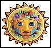 Sun Design - Hand Painted Metal Wall Decor - Handcrafted in Haiti - 34""