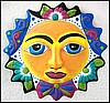 Sun - Painted Metal Wall Hanging - Outdoor Garden Decor - 17""