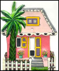 Painted Metal Caribbean Gingerbread House Switchplate Cover - Tropical