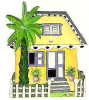 Painted Metal Tropical Caribbean House Switch Plate Cover