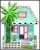 Caribbean Cottage Tropical Switch Plate Cover - Hand Painted Metal