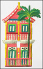Painted Metal Switch Plate Cover - Tropical Gingerbread House Switchplate