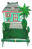 Toilet Paper Holder - Painted Metal Tropical Bathroom Decor - Caribbean House