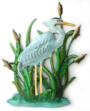 Blue heron - Painted Metal