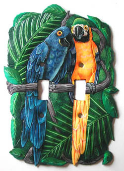 Parrot metal switchplate