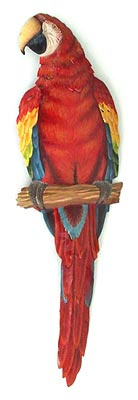 painted metal parrot