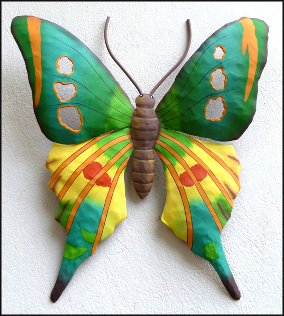 Painted metal butterfly