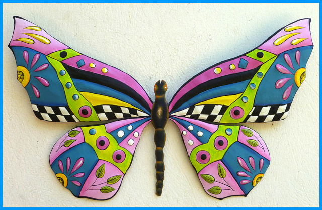 Painted Metal Erfly Wall Hanging
