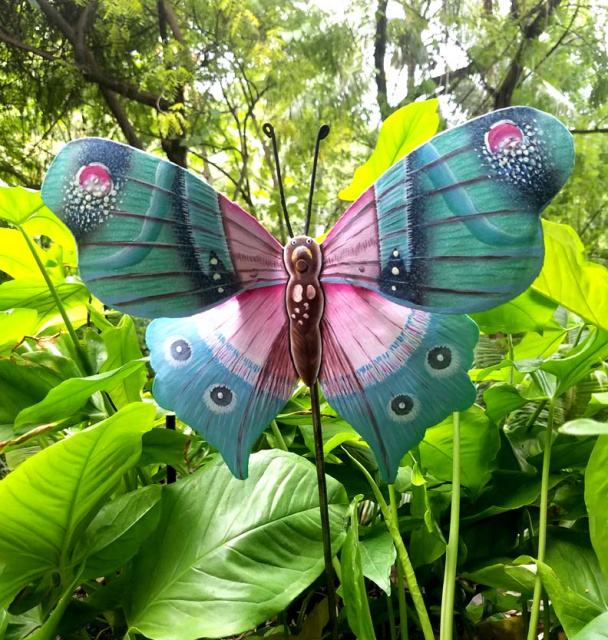 Garden Decor, Painted metal butterfly