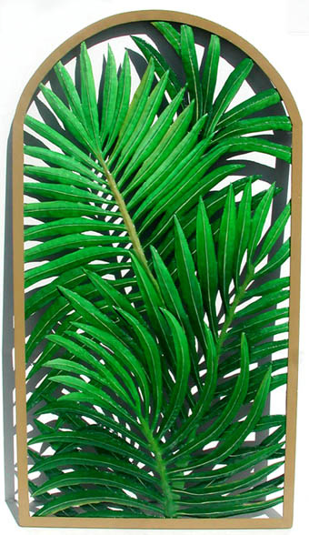 Hand painted metal wall art. Tropical palm tree, Tropical decor,