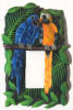 Parrots Painted Metal Single Light Switch Plate Cover - Tropical Design