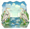 Light Switch Cover - Blue Heron Design - Tropical Metal Art  2 Holes