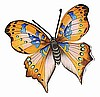 Painted Metal Butterfly - Tropical Home Decor - Garden Decor 11""