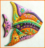 "Hand Painted Metal Tropical Fish Wall Hangings,Beach Decor- Garden Decor  21"" x 25"""