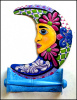 "Painted Metal Moon Toilet Paper Holder - Toilet Tissue Holder - 7 1/2"" x 11"""