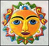 Sun Design Painted Metal Wall Hanging - Outdoor Garden Decorating - 17""