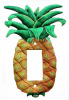 Pineapple Design Rocker Switch Plate Cover - Hand Painted Metal - 1 hole